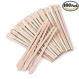 extra small wax sticks - Whaline 400 Pieces Wax Applicator Sticks Wax Spatulas Small Wood Craft Sticks for Hair Eyebrow Removal