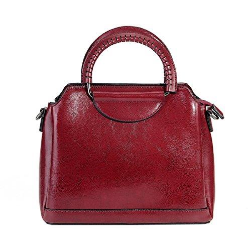 femme Sac à portés LF Girl fashion Sac Bordeaux main main portés Sac Sac cuir 8958 E bandoulière en épaule xzSwqHvx