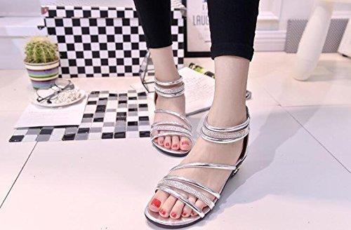 2016 Sommer Art Weise Rom Schuhe frauen Sandalen Student Schuhe Silber