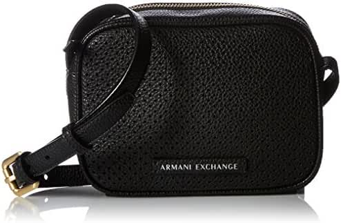 A X Armani Exchange Perforated Pebble Pu Crossbody Bag