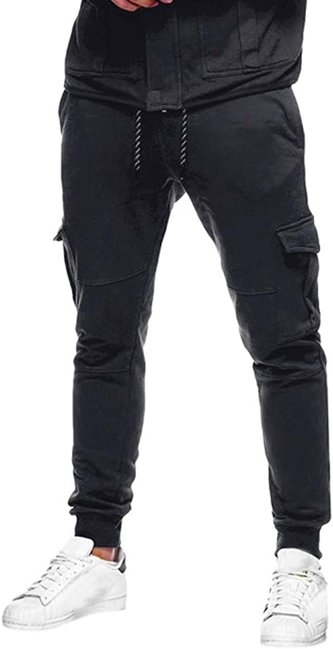 Sports Mens Casual Pants  Trousers Sweatpants Slacks Casual Jogger Pants