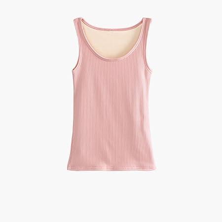 SJJOZZ Ropa Interior térmica Gruesos Superiores Lana Forrada Caliente Cami Camiseta Interior Invierno Capa de Acolchado Chaleco Base (Color : Pink, Size : S): Amazon.es: Hogar