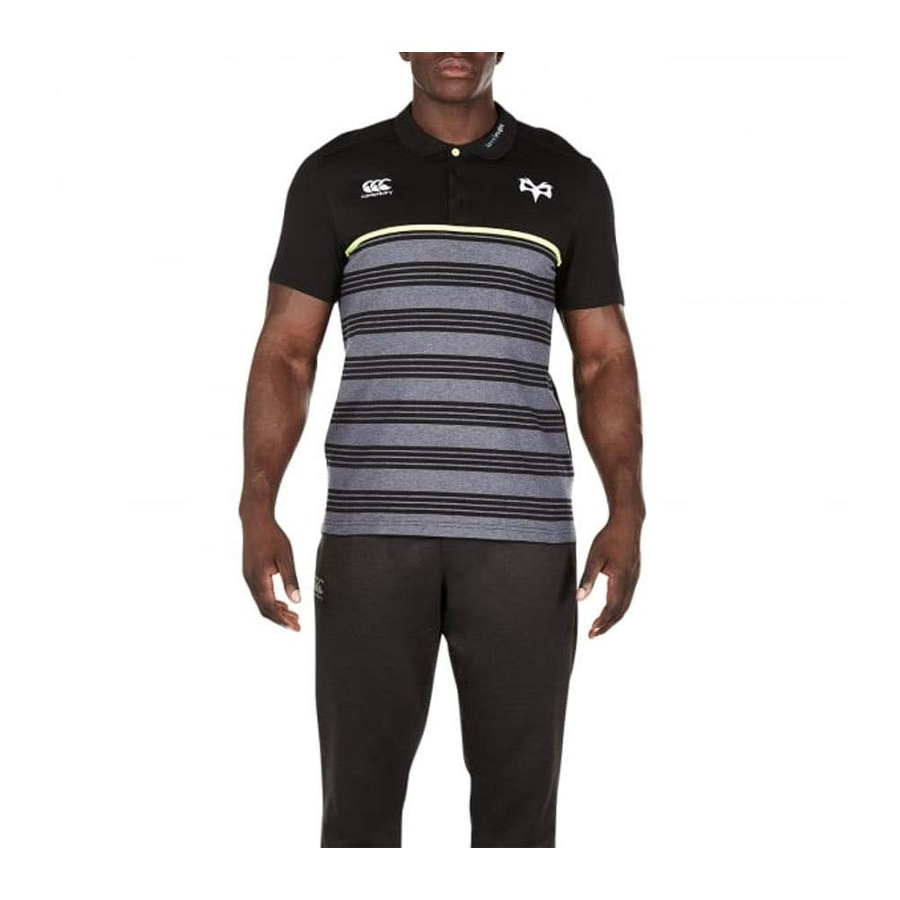 2017-2018 Ospreys Rugby Cotton Stripe Polo Shirt (Tap Schuhe)