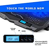 Laptop Cooler, Aicheson Laptop Cooling Pad Chill Mat with 4 Quiet Fans USB Powered Adjustable Mounts Stand with LCD Display and LED Lights