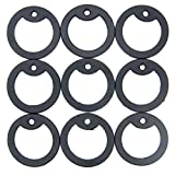 50pcs Military Army Dog Tag Silencer Silicone/Rubber Silencer Black Color