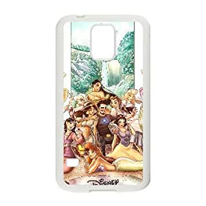 Generic for Samsung Galaxy S5 Cell Phone Case White Disney Princess Custom HLFDKFFKD2954