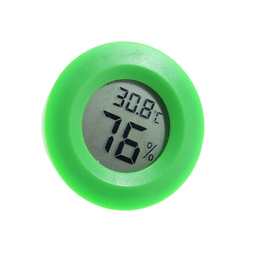 Uokoki Mini pratique Thermomè tre ronde numé rique d'inté rieur hygromè tre tempé rature hygromè tre é cran LCD