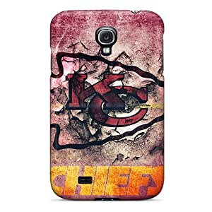 Protective Hard Phone Cover For Samsung Galaxy S4 (jYb17006mYVx) Unique Design Fashion Kansas City Chiefs Skin