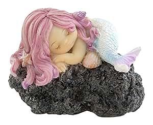 Parte superior Collection de hada en miniatura jardín Terrario y dormir en la roca Estatua de la Sirenita