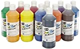 Sax True Flow Acrylic Paint - Pint - Set of 12 - Assorted Colors