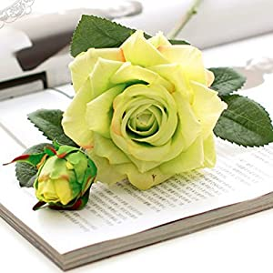 LBZEZR Artificial Flowers Real Touch Silk Rose Home decorations Floral Decor 93