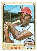 Bill White autographed baseball card (Philadelphia Philles) 1968 Topps # 190 (67) - Autographed Baseball Cards
