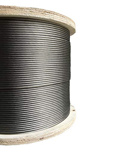 1000ft Stainless Steel Aircraft Cable Wire Rope 1/8