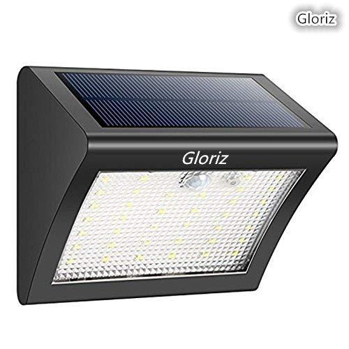 Foco Solar, Gloriz Luces Solares 38 LED 3 Modos lámparas solares de pared Impermeable IP65, Luz de solar, Luces de Exterior...