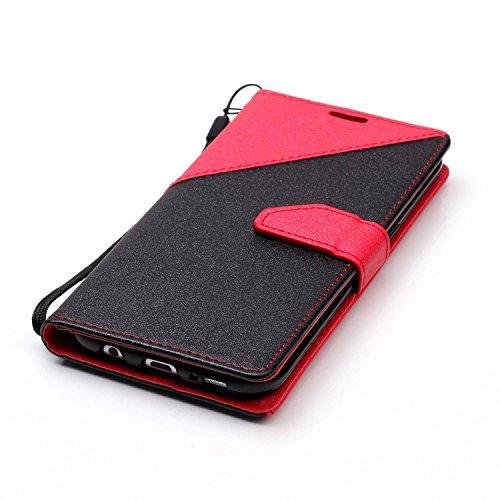 [Cierre Magnético] para Galaxy S7 Edge Carcasa Sunroyal® PU Leather Cuero Bookstyle Wallet Cubierta Cobertura Samsung S7 EdgeCarcasa Con [Flip Case Cover][Función de Soporte] [Billetera con Tapa para  A-07