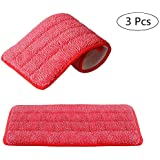 Oisee Reveal Mop Cleaning Pads 16.5x 5.5 inch Suit for Wet Or Dry Floor Cleaning Scrubbing Childcare Supplies Dusting 3 Pack