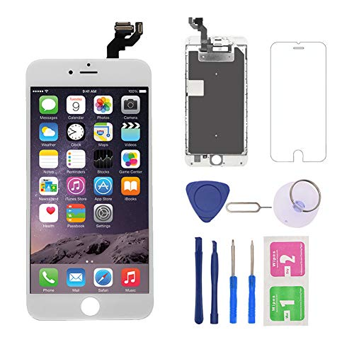 - Nroech for iPhone 6S Plus Screen Replacement 5.5'' [White], 6S Plus 3D Touch LCD Screen Digitizer Frame Full Assembly with Camera - Earpiece - Free Repair Tool Kits-Protector for A1634, A1687, A1699