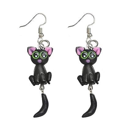 Muzhili3 - Pendientes para mujer con diseño de ratón y cola ...