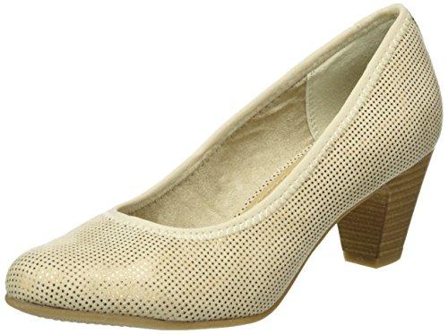 s.Oliver 22417, Zapatos de Tacón para Mujer Beige (SAND 355)
