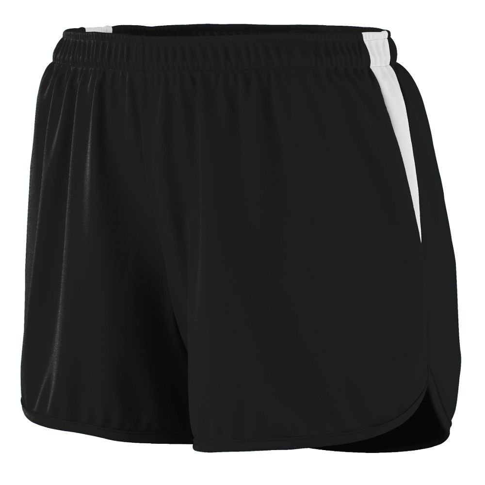 347 AG LAD VELOCITY TRACK SHORT BLACK/ WHITE 2XL