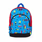 "Backpack Schoolbag - 15"" BACKPACK 2-Pocket Boys/Girls Schoool Bag Backpack Shoulder Bag Suitable For Babies and Children - Perfect Birthday Gifts Toddler Preschool Kids (Bugs Blue/Red)"