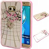 BLT® Galaxy S6 Edge Plus case, [ Hard Clear Back and Soft TPU Edges] Case, Beautiful Winter Sweet for Samsung Galaxy S6 Edge Plus, Screen Protector and Dust-absorber as Gift