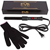 Professional Curling Wand By EV Beauty: Top-Notch Quality Ceramic Curling Iron For Jaw Dropping...