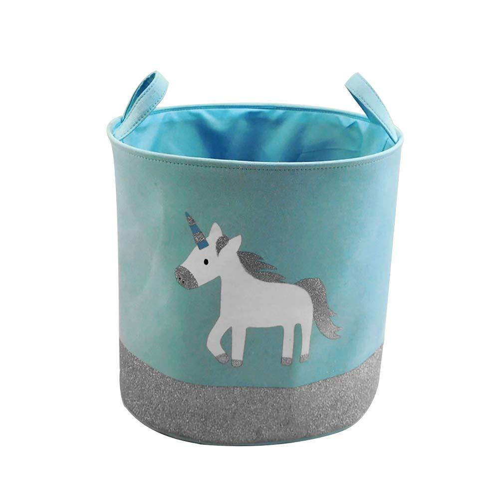 JYSPT dise/ño de Unicornio Cesta Plegable para Ropa Sucia
