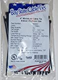 4'' Miniature UV Black Nylon Wire Cable Zip Ties Tie Wrap, USA, Qty 1000