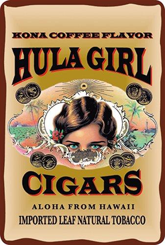 Hula Girl Cigars (Hawaiian Vintage Postcards Pack of 30 - Hula Girl Cigars by Hula Girl)
