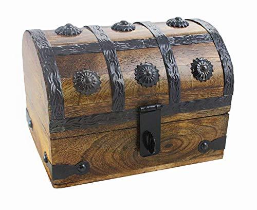 - Well Pack Box Treasure Chest Wood Keepsake Jewelry Box Toy Treasure Box 6.5x5x4.5