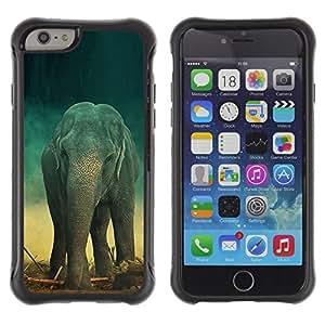 Suave TPU GEL Carcasa Funda Silicona Blando Estuche Caso de protección (para) Apple Iphone 6 PLUS 5.5 / CECELL Phone case / / Elephant Teal Trunk Vintage Cute Retro /