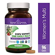 New Chapter Women's Multivitamin, Every Woman's One Daily Fermented with Probiotics + Iron + B Vitamins + Vitamin D3 + Organic Non-GMO Ingredients