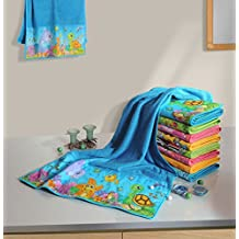 Yuga 100 % Cotton Bath Towel For Kids Digitally Printed Double Pile Reversible Kids Towel 24 X 40 Inches