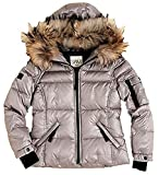 SAM. New York Girls Quilted Down Hooded Jacket Silver Platinum 4T