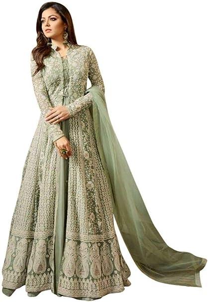 Amazon.com: Anarkali Salwar Kameez - Vestido para mujer ...