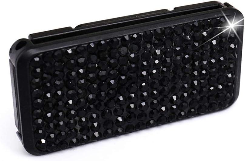 elegantstunning Car Diamante Safety Belt Clip Car Safety Belt Retainer Elastic Regulator white