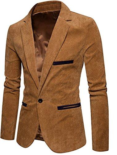 (モダンミス)Mordenmiss メンズ テーラードジャケット カジュアル コーデュロイ生地 無地 アウター 秋冬スーツコート  シングル 一つボタン スタイリッシュスーツ スリムスーツ サイズM-XXXL
