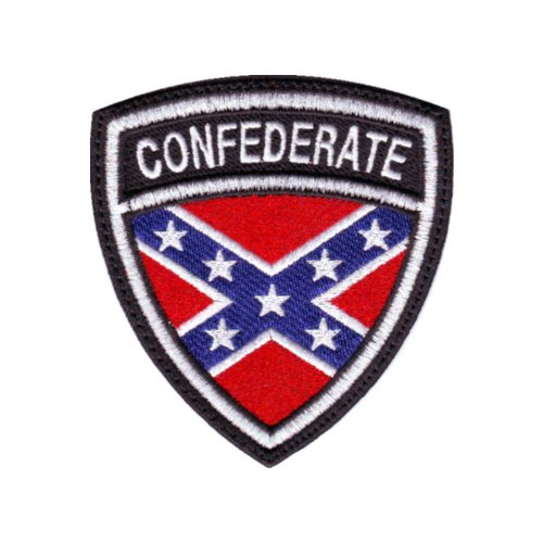 Confederate Crest Flag Embroidered Sew On Patch
