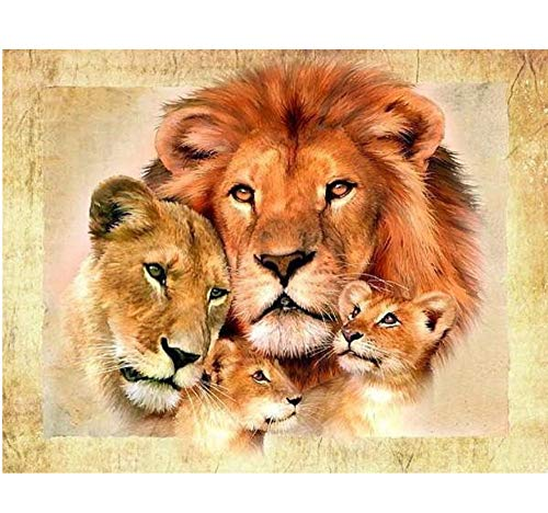 CYKEJISD Painting by Numbers Lion Family DIY Europe Home Decoration Animal Series Wall Decor DIY Painting On Canvas for Home Decor