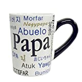 Papa Around the World Ceramic Coffee Mug 20 oz by Tumbleweed Pottery