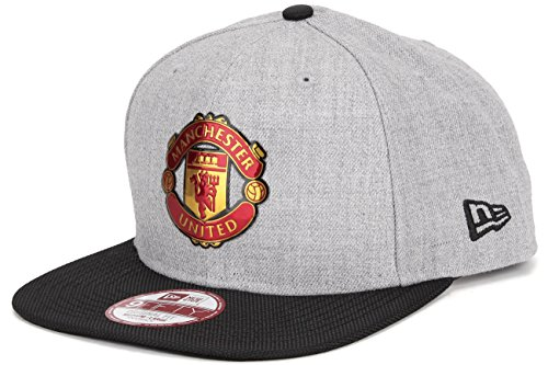 従来の沼地堤防ニューエラ (New Era) スナップバック キャップ - マンチェスター?ユナイテッド (Manchester United) ヘザー グレー
