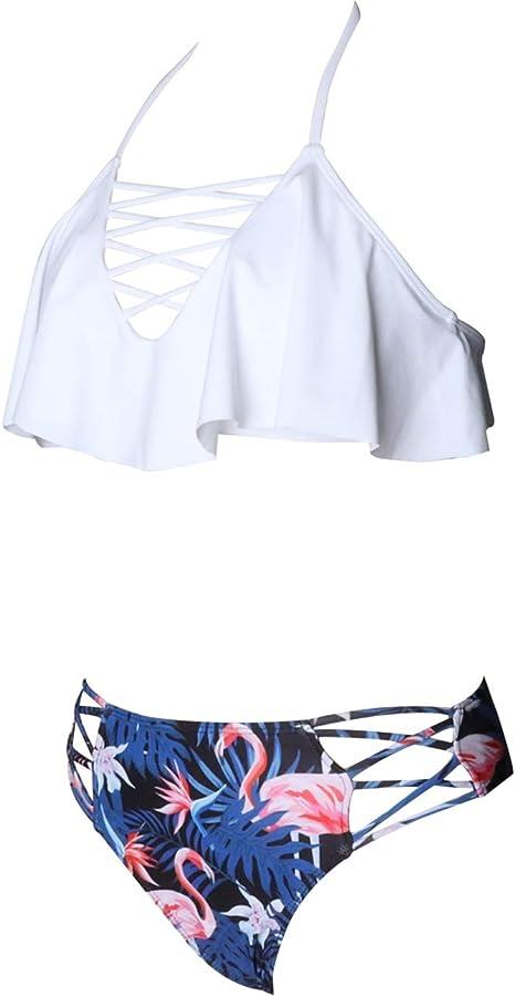 da donna set con maglia e pantaloni costume da bagno coprente