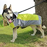 VICTORIE Dog Raincoat Pet Rain Jacket Rain Snow Coat Sunproof Breathability Waterproof Windproof Warm Reflective Outdoor Hiking Walking Travelling Hunting Green M