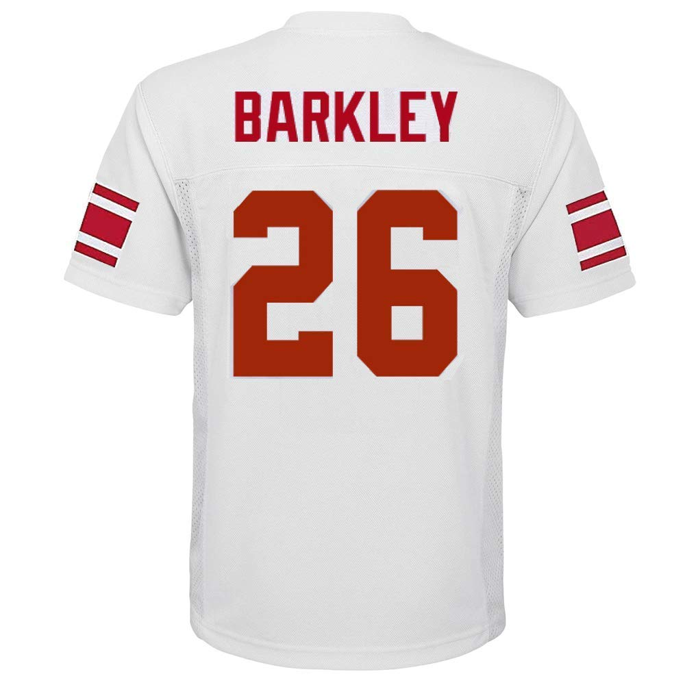 Saquon Barkley New York Giants NFL Youth 8-20 White Road Mid-Tier Jersey