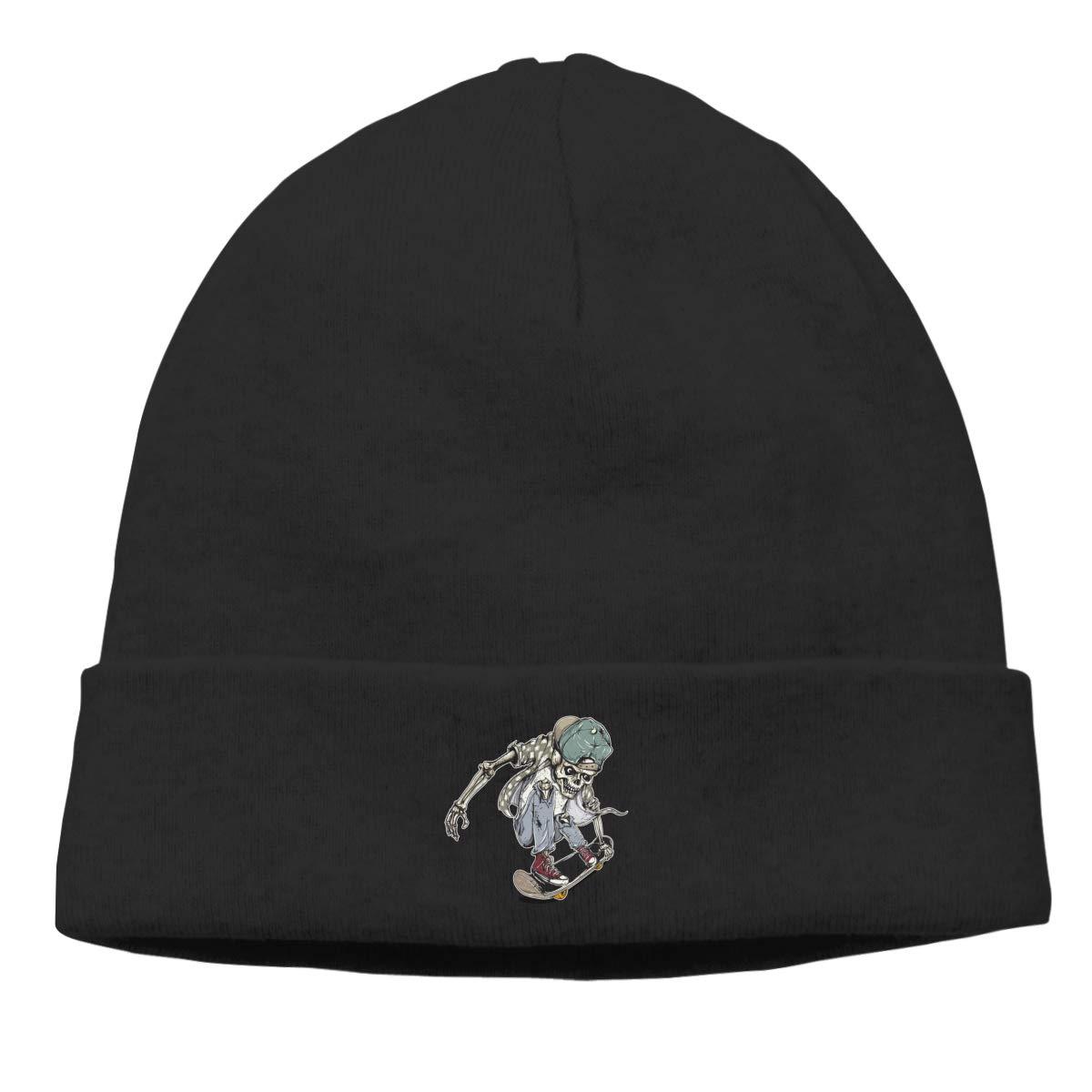 Funny Skull Skaters Knit Caps Beanie Hat Skull for Men Black