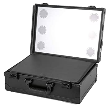 Amazoncom Professional Portable Cosmetic Case Travel Makeup Box