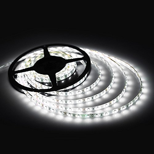 12v led rope light amazon ledjump waterproof pure white 300smd led ribbon flexible strip 164 ft 12v aloadofball Image collections