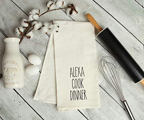 Alexa cook dinner kitchen tea towel