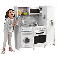 Juego de cocina KidKraft para niños, blanco /negro
